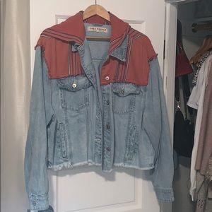 Free People cropped jean jacket